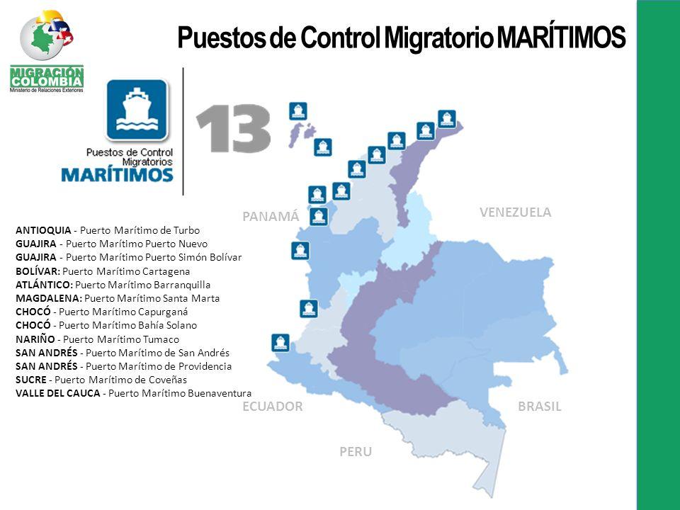 Puestos de Control Migratorio MARÍTIMOS