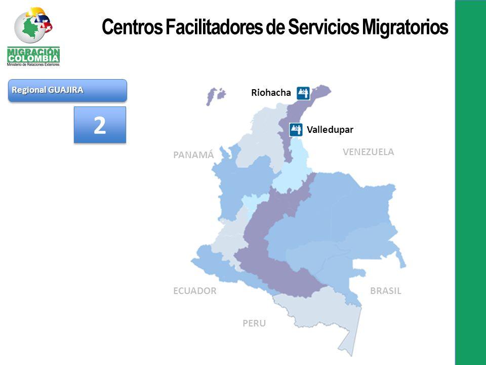 2 Centros Facilitadores de Servicios Migratorios Riohacha Valledupar