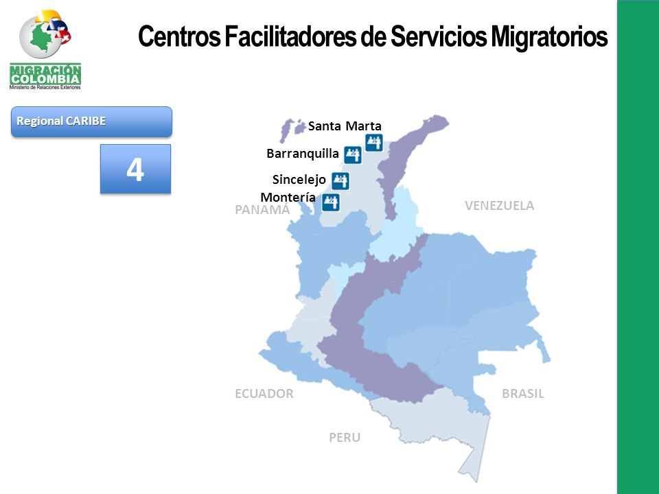 4 Centros Facilitadores de Servicios Migratorios Santa Marta