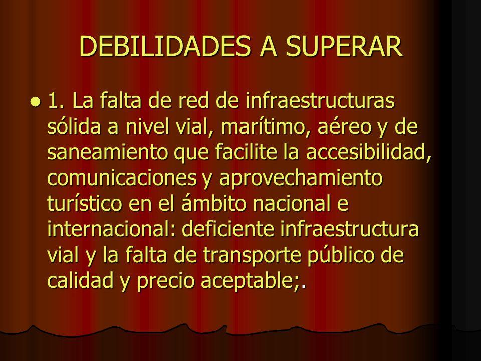 DEBILIDADES A SUPERAR