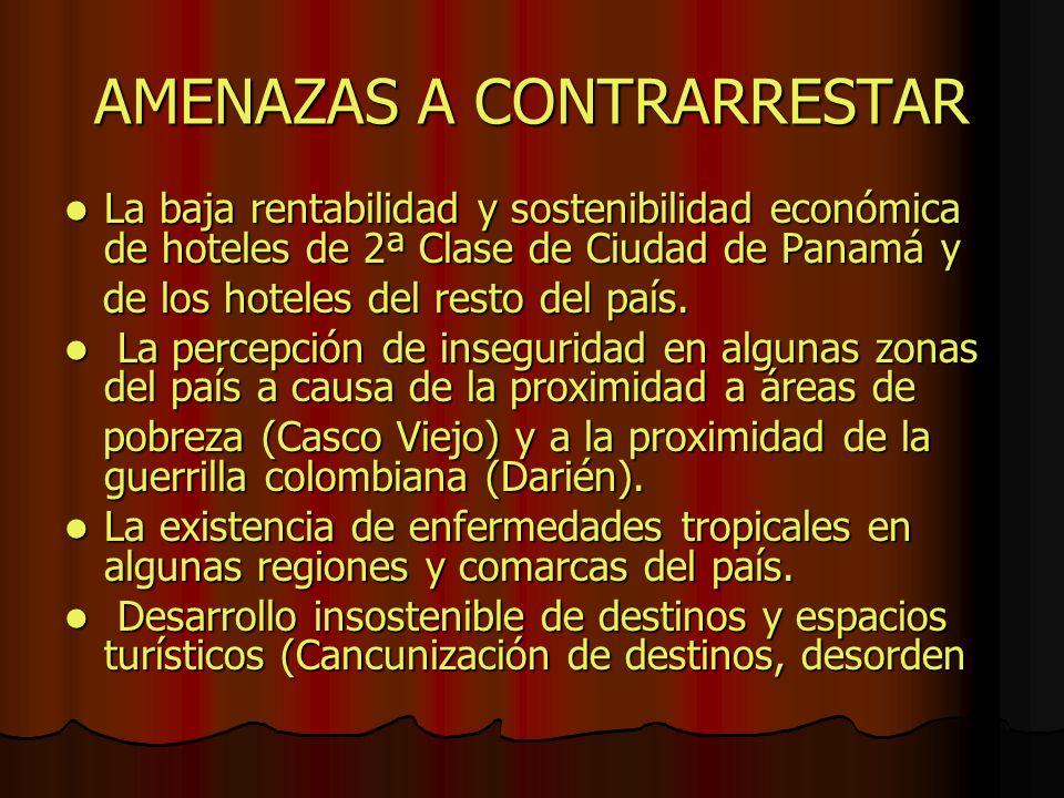 AMENAZAS A CONTRARRESTAR
