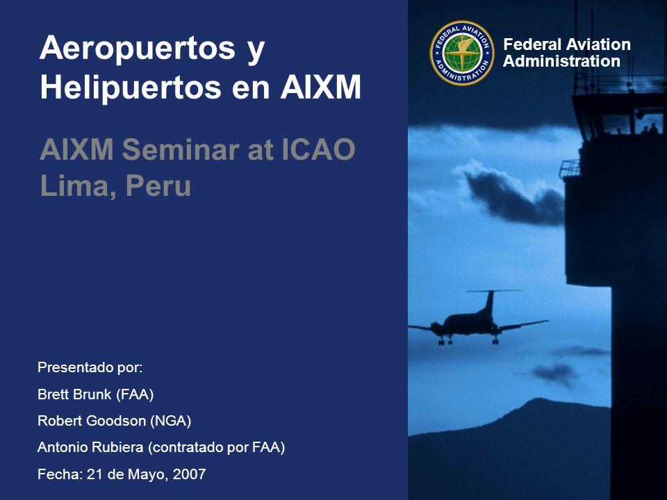 Aeropuertos y Helipuertos en AIXM