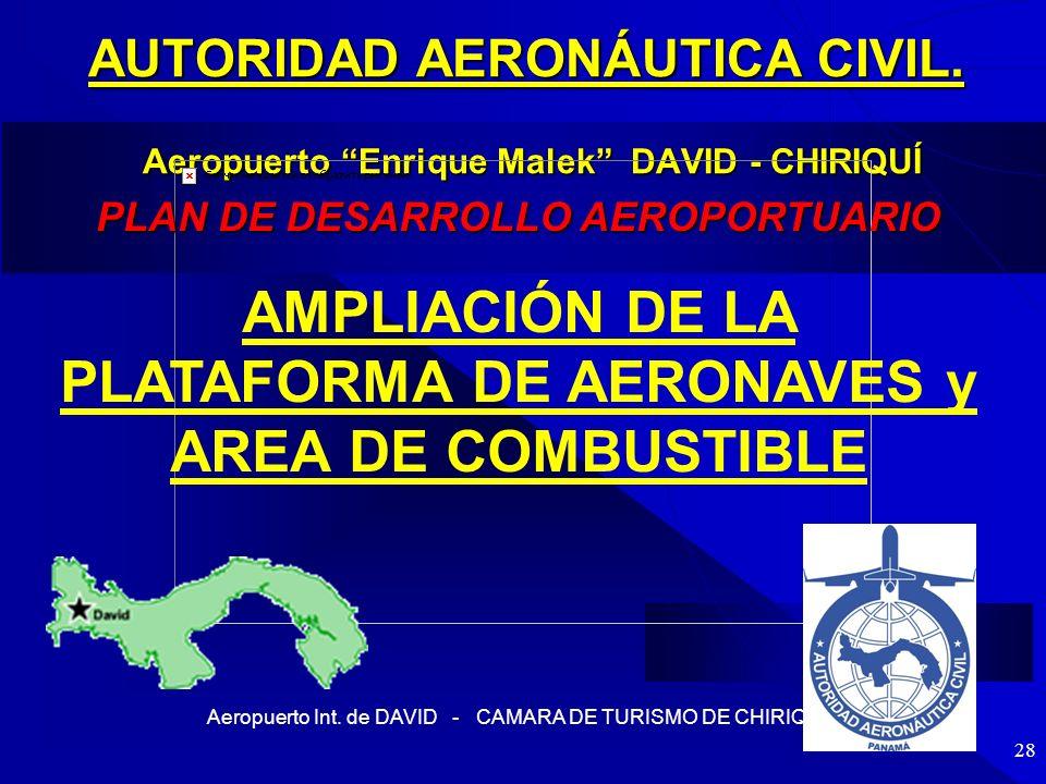 AMPLIACIÓN DE LA PLATAFORMA DE AERONAVES y AREA DE COMBUSTIBLE