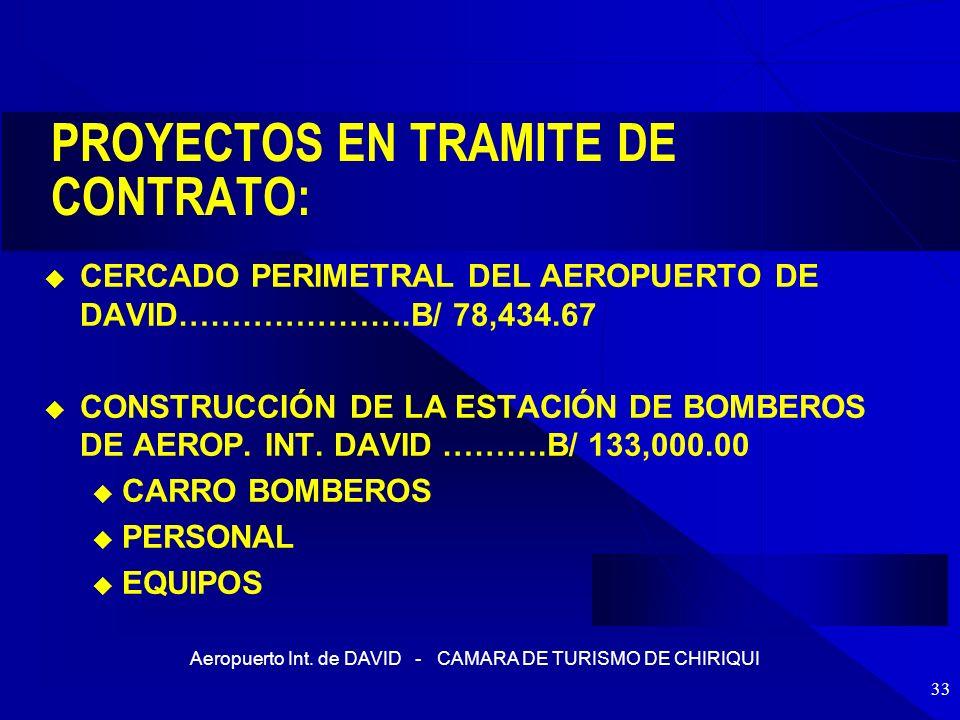 PROYECTOS EN TRAMITE DE CONTRATO: