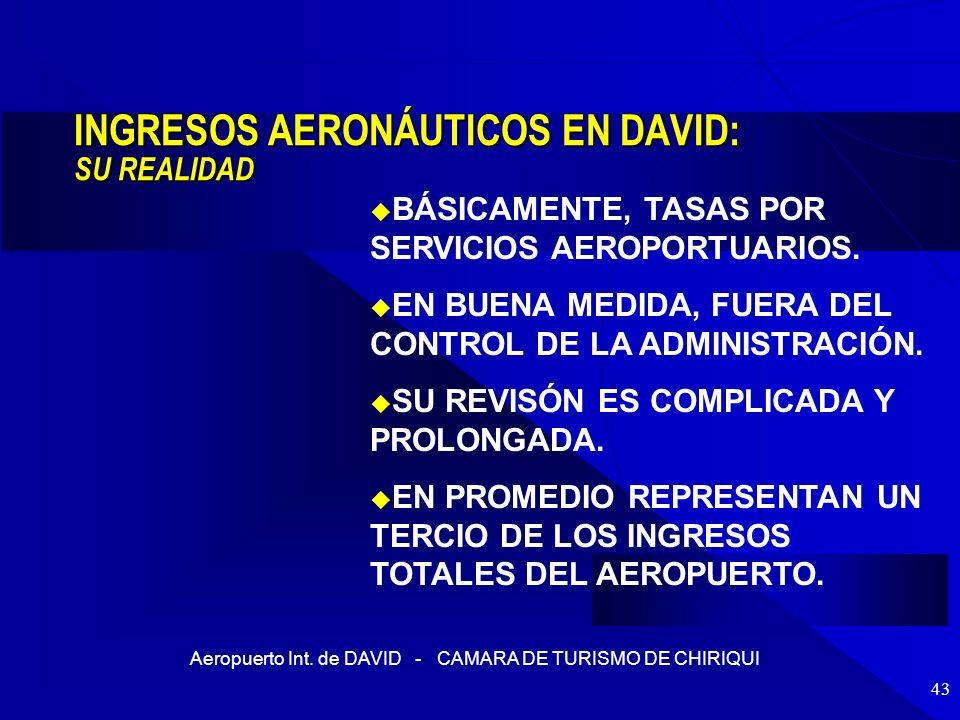 INGRESOS AERONÁUTICOS EN DAVID: SU REALIDAD