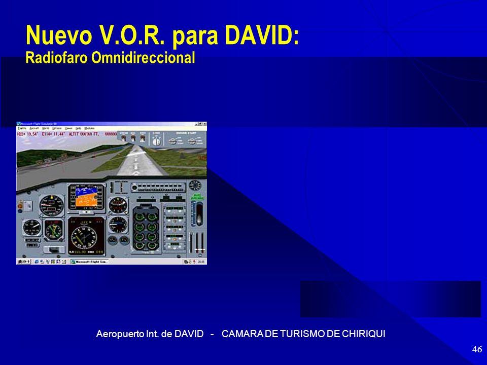 Nuevo V.O.R. para DAVID: Radiofaro Omnidireccional