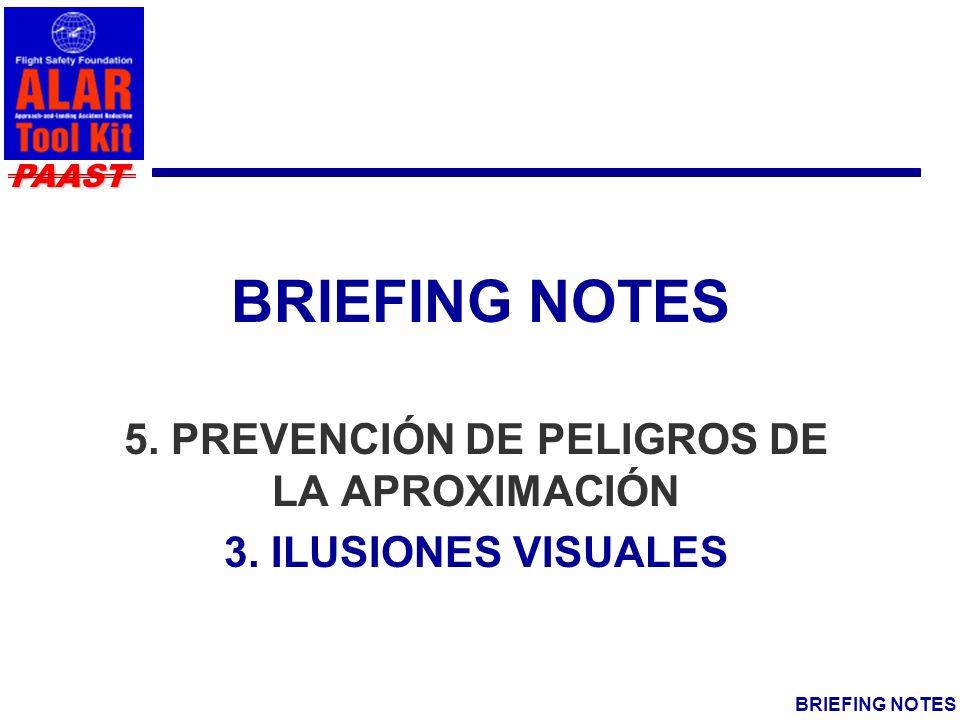 5. PREVENCIÓN DE PELIGROS DE LA APROXIMACIÓN 3. ILUSIONES VISUALES