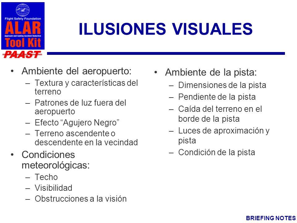 ILUSIONES VISUALES Ambiente del aeropuerto: