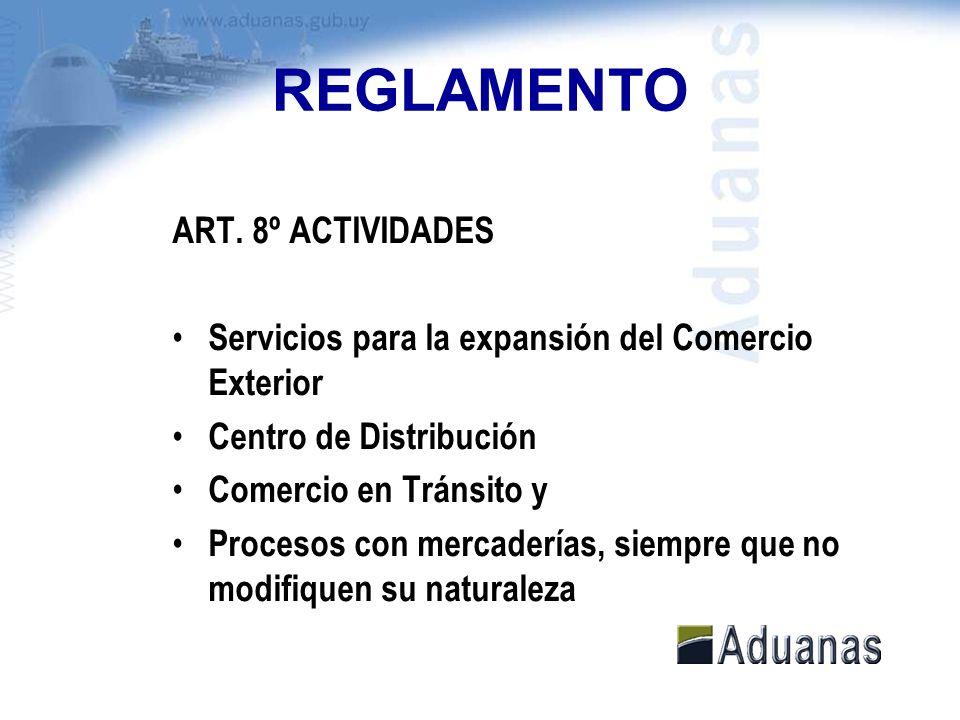 REGLAMENTO ART. 8º ACTIVIDADES