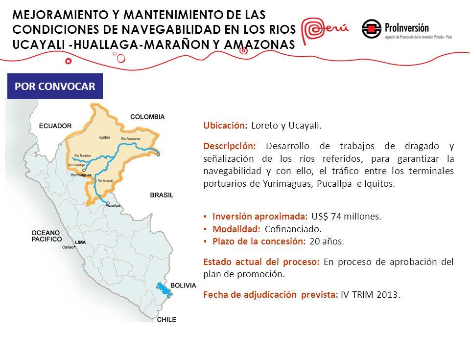 MEJORAMIENTO Y MANTENIMIENTO DE LAS CONDICIONES DE NAVEGABILIDAD EN LOS RIOS UCAYALI -HUALLAGA-MARAÑON Y AMAZONAS