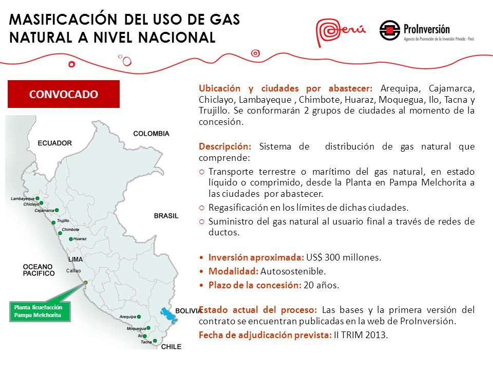 MASIFICACIÓN DEL USO DE GAS NATURAL A NIVEL NACIONAL