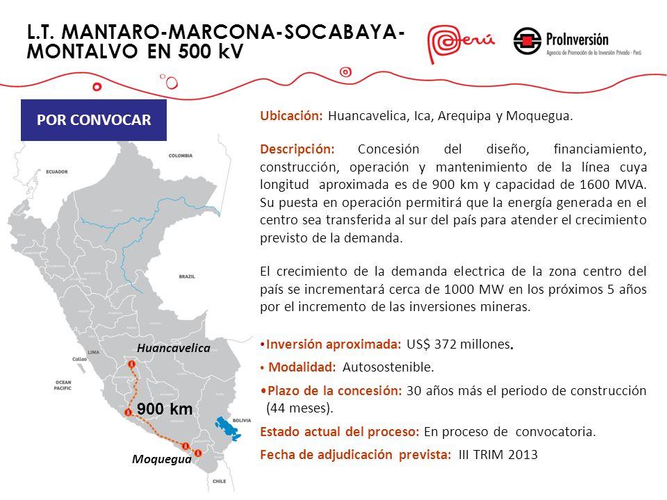 L.T. MANTARO-MARCONA-SOCABAYA-MONTALVO EN 500 kV