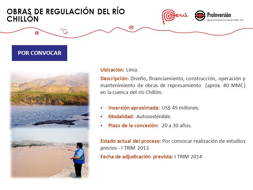OBRAS DE REGULACIÓN DEL RÍO CHILLÓN