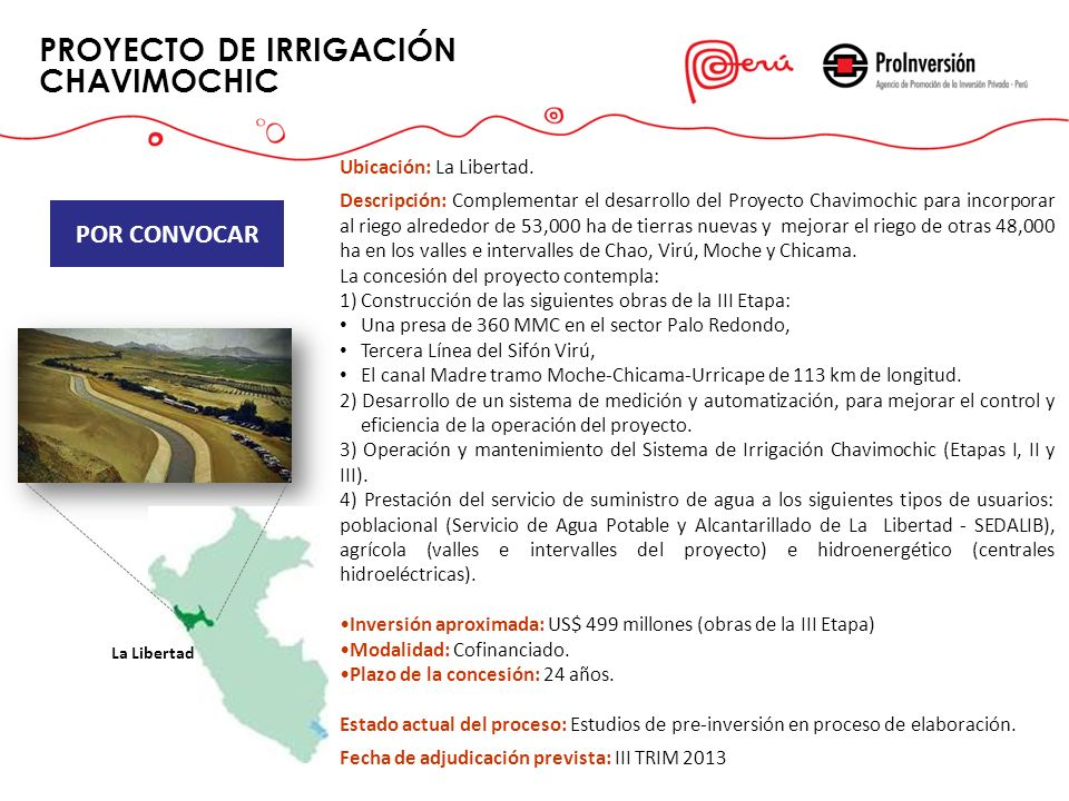 PROYECTO DE IRRIGACIÓN CHAVIMOCHIC