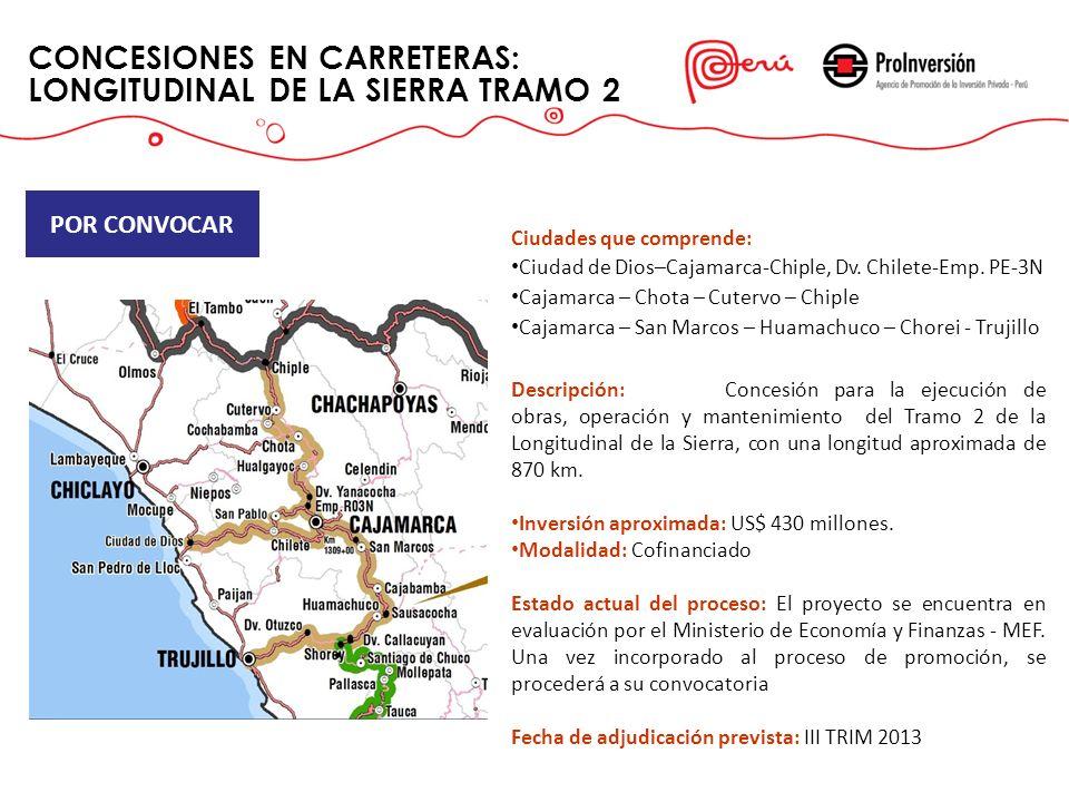 CONCESIONES EN CARRETERAS: LONGITUDINAL DE LA SIERRA TRAMO 2
