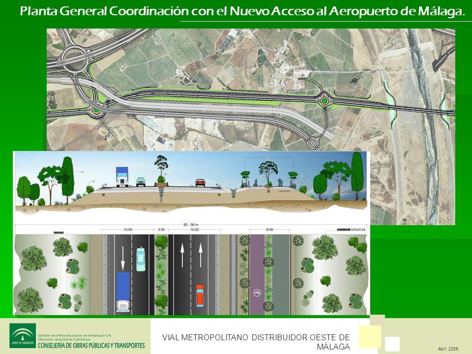 Planta General Coordinación con el Nuevo Acceso al Aeropuerto de Málaga.