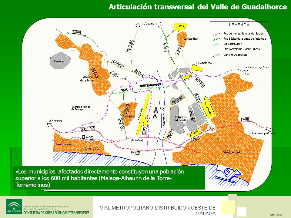 Articulación transversal del Valle de Guadalhorce