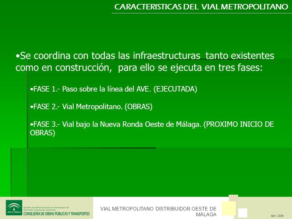 CARACTERISTICAS DEL VIAL METROPOLITANO