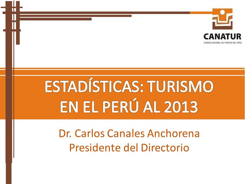 ESTADÍSTICAS: TURISMO EN EL PERÚ AL 2013