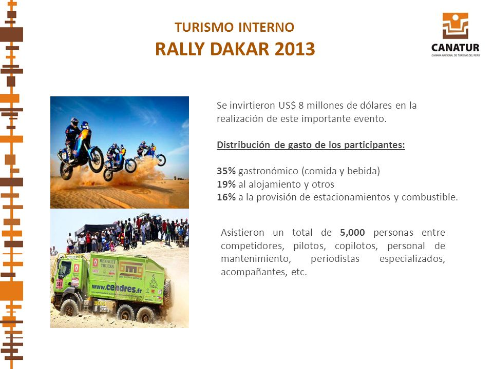 RALLY DAKAR 2013 TURISMO INTERNO