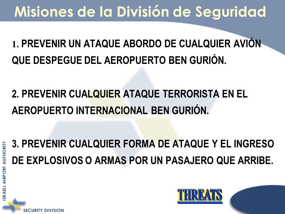 Misiones de la División de Seguridad