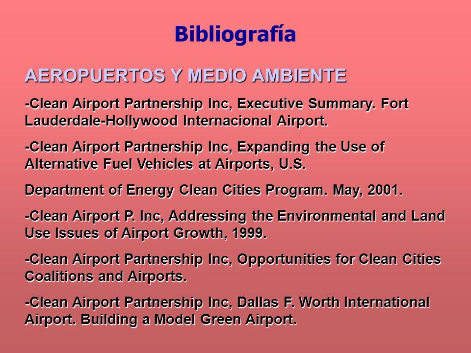 Bibliografía AEROPUERTOS Y MEDIO AMBIENTE