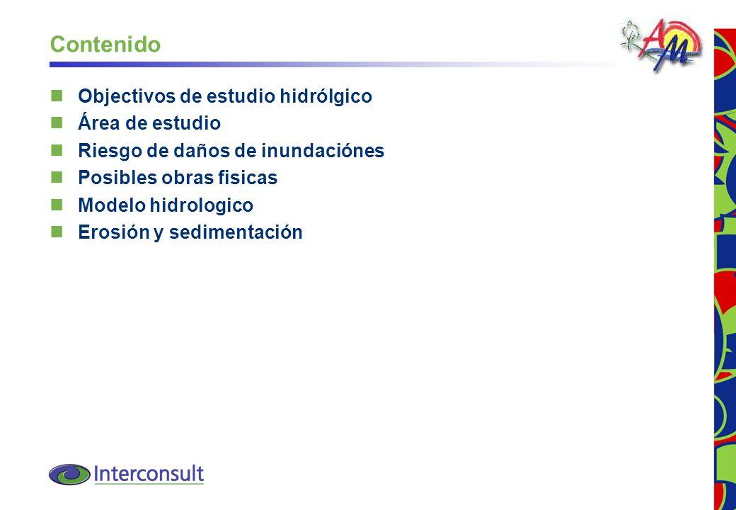 Contenido Objectivos de estudio hidrólgico Área de estudio