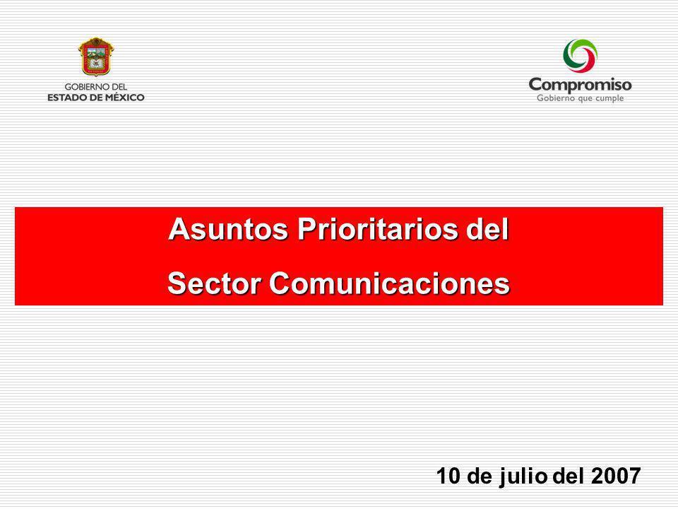 Asuntos Prioritarios del Sector Comunicaciones