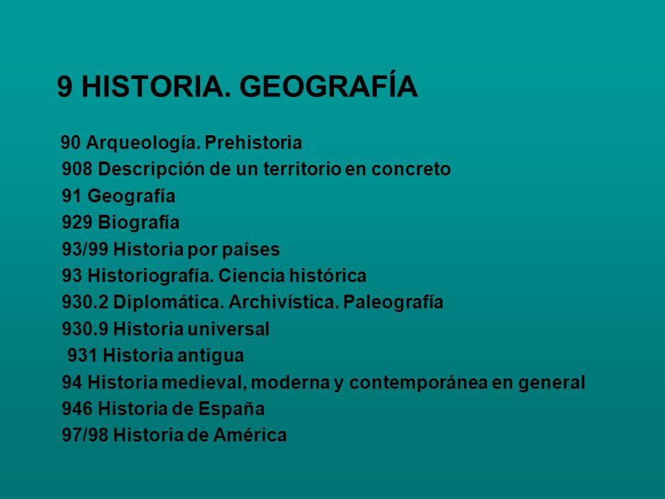 9 HISTORIA. GEOGRAFÍA 908 Descripción de un territorio en concreto