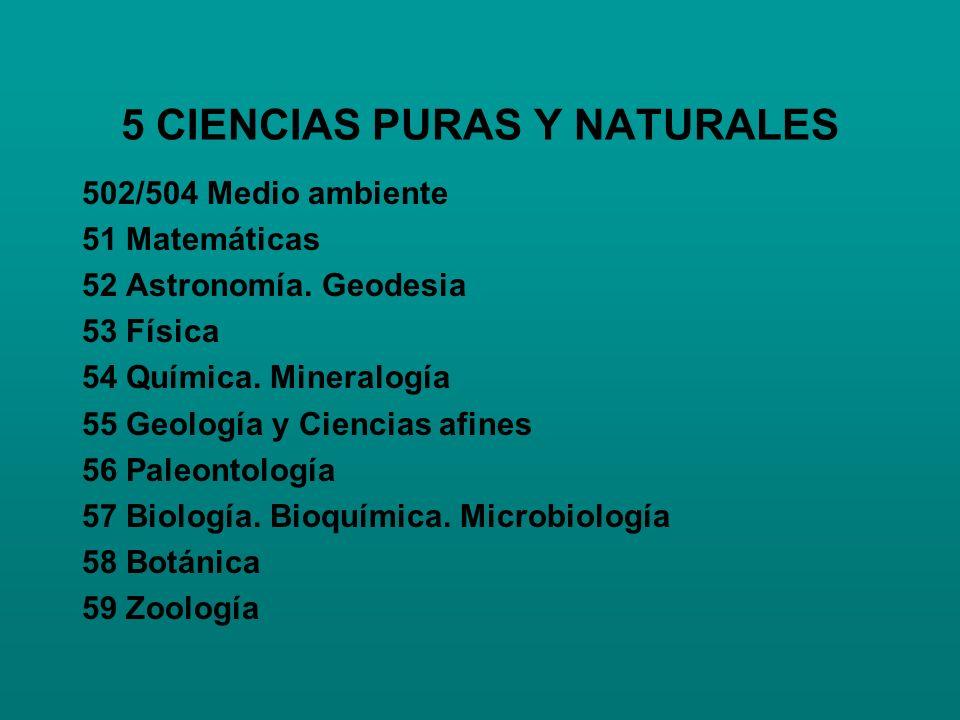 5 CIENCIAS PURAS Y NATURALES
