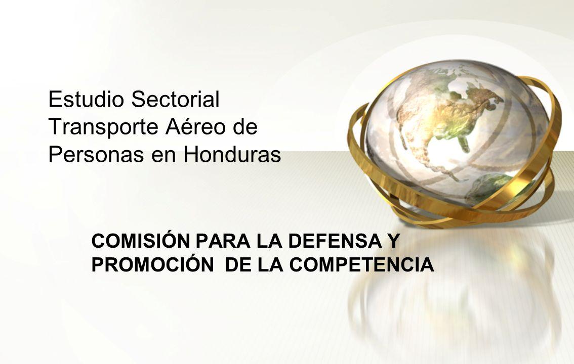 Estudio Sectorial Transporte Aéreo de Personas en Honduras