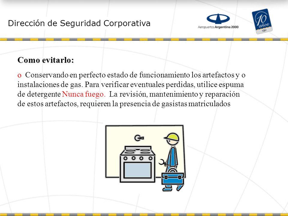 Como evitarlo: Dirección de Seguridad Corporativa