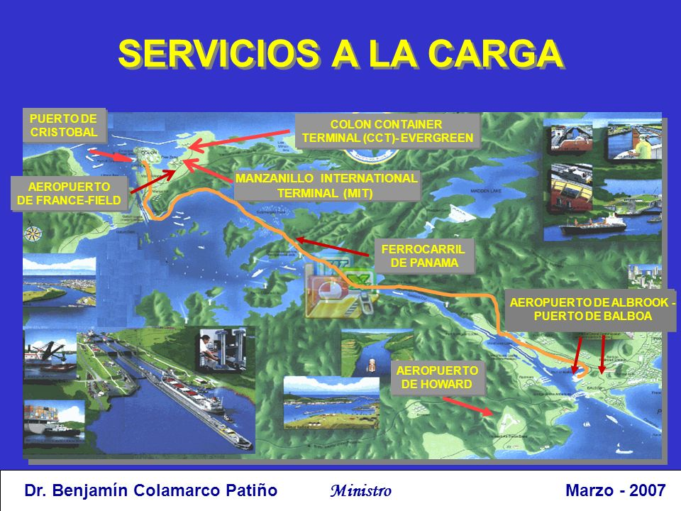 SERVICIOS A LA CARGA PUERTO DE. CRISTOBAL. COLON CONTAINER. TERMINAL (CCT)- EVERGREEN. MANZANILLO INTERNATIONAL.