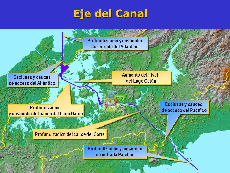 Eje del Canal Profundización y ensanche de entrada del Atlántico