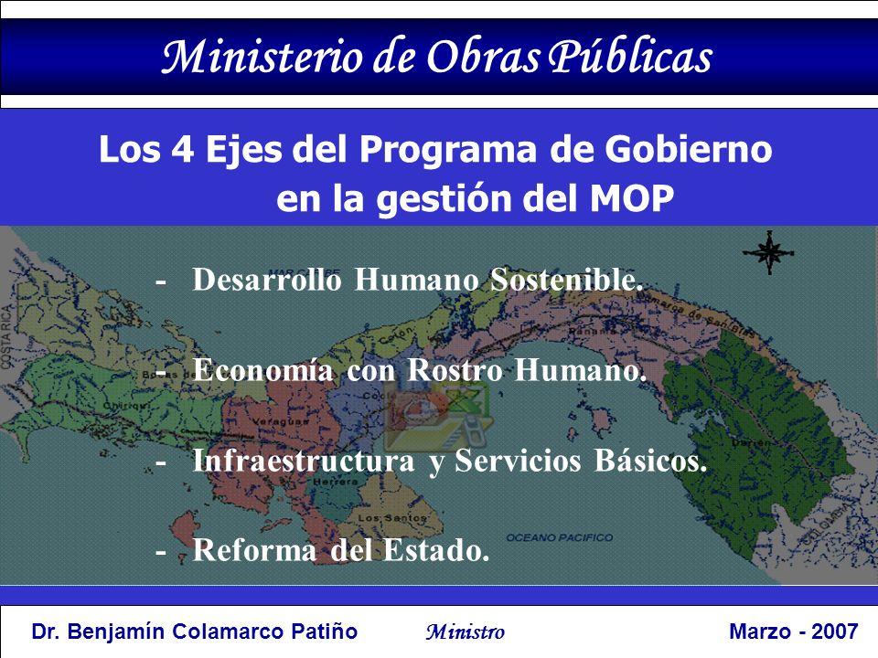 Los 4 Ejes del Programa de Gobierno en la gestión del MOP