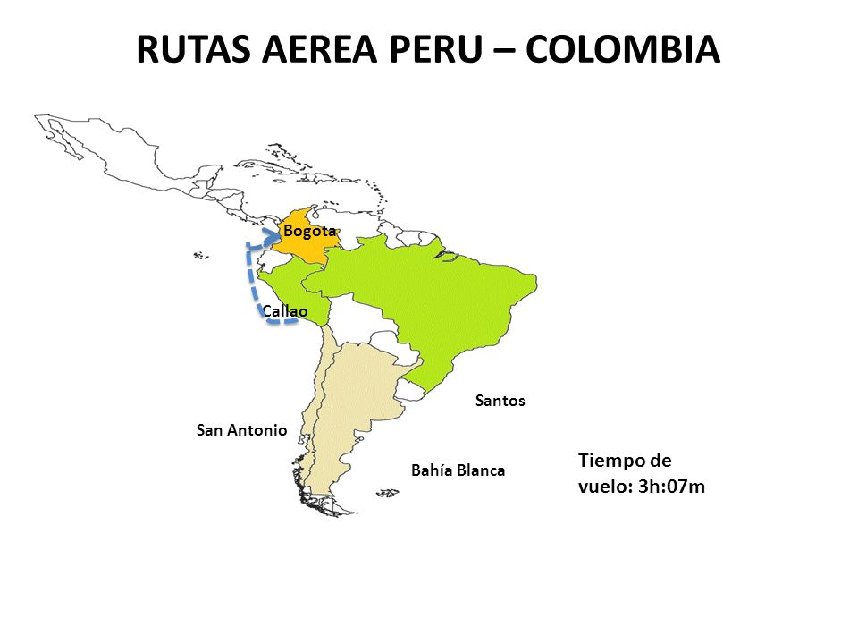 RUTAS AEREA PERU – COLOMBIA