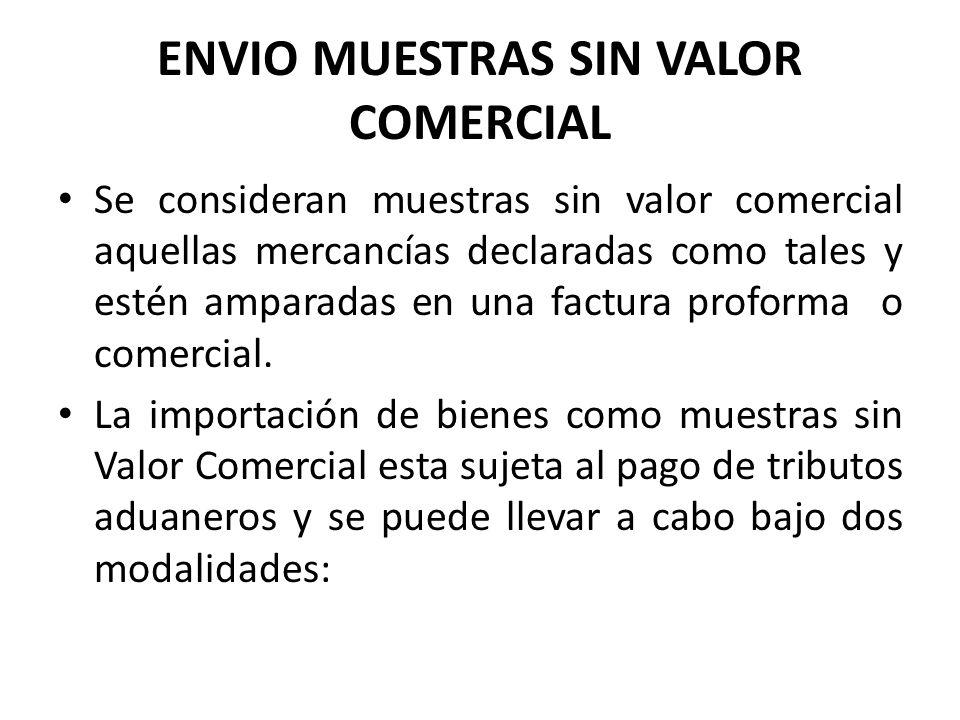 ENVIO MUESTRAS SIN VALOR COMERCIAL