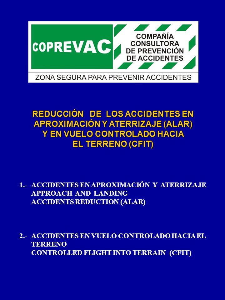 REDUCCIÓN DE LOS ACCIDENTES EN APROXIMACIÓN Y ATERRIZAJE (ALAR) Y EN VUELO CONTROLADO HACIA EL TERRENO (CFIT)