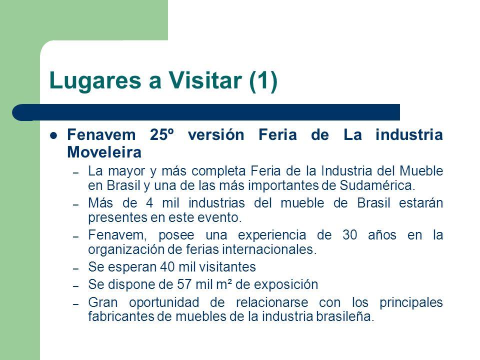 Lugares a Visitar (1) Fenavem 25º versión Feria de La industria Moveleira.