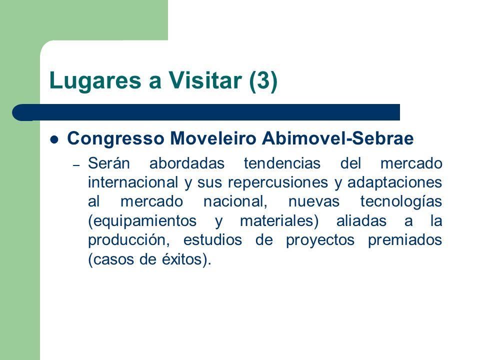 Lugares a Visitar (3) Congresso Moveleiro Abimovel-Sebrae