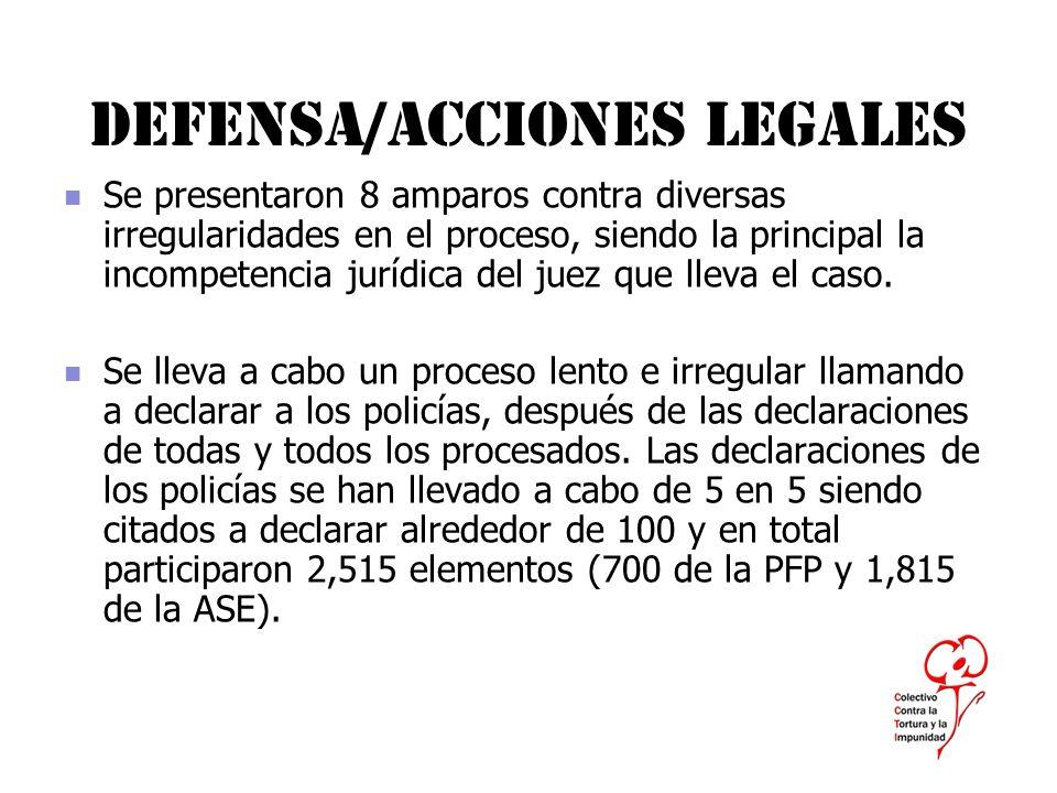 Defensa/acciones legales