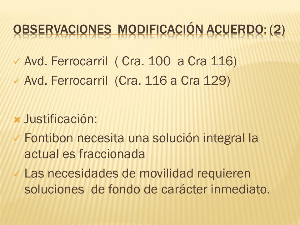 Observaciones modificación acuerdo: (2)