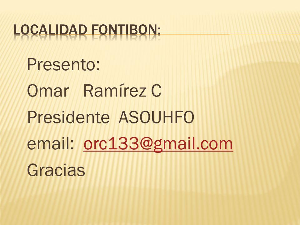 Omar Ramírez C Presidente ASOUHFO