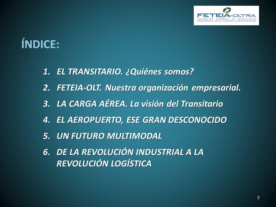 ÍNDICE: EL TRANSITARIO. ¿Quiénes somos