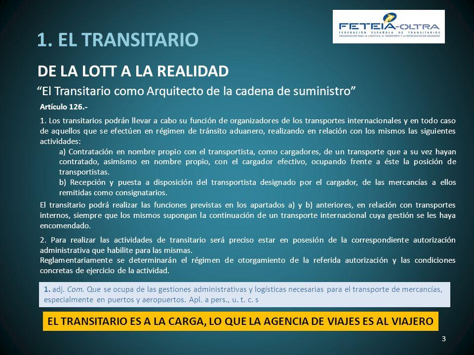 1. EL TRANSITARIO DE LA LOTT A LA REALIDAD