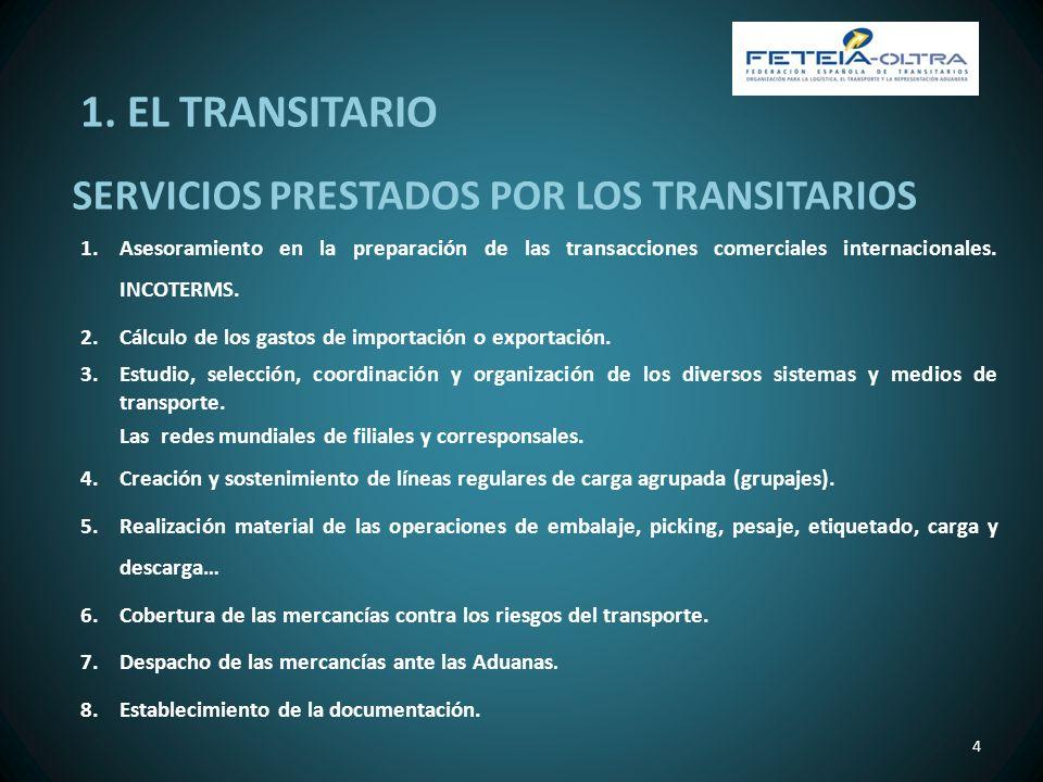 1. EL TRANSITARIO SERVICIOS PRESTADOS POR LOS TRANSITARIOS