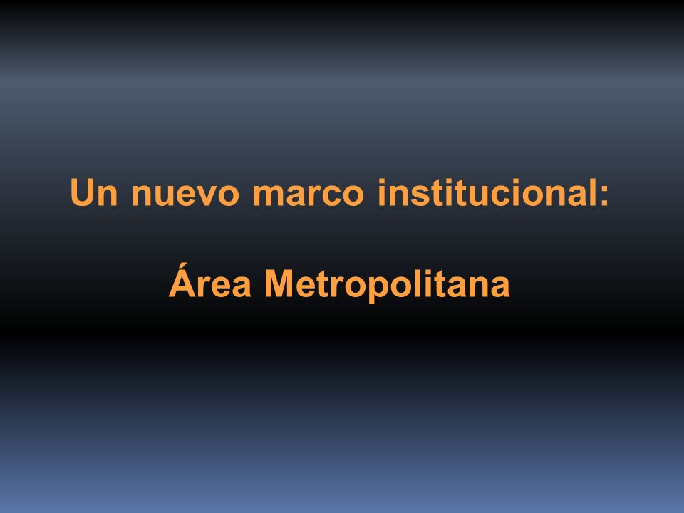 Un nuevo marco institucional: