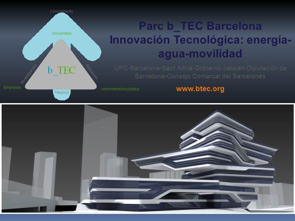 Parc b_TEC Barcelona Innovación Tecnológica: energía-agua-movilidad