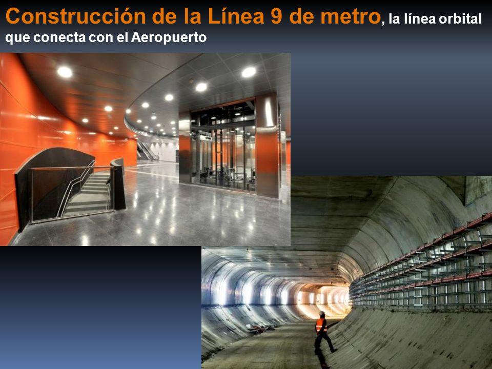 Construcción de la Línea 9 de metro, la línea orbital que conecta con el Aeropuerto