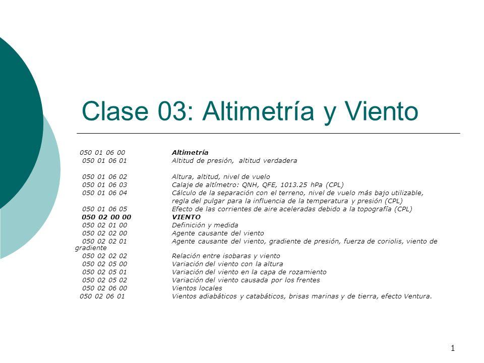 Clase 03: Altimetría y Viento